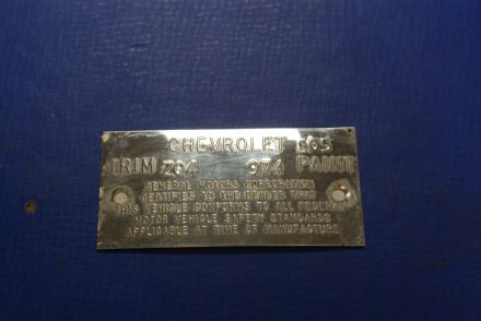 1968 Trim Tag,Original,Used